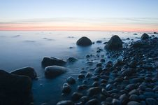 Free Baltic Seaside After Sunset Stock Photos - 9736523