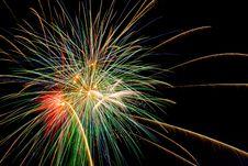 Free Fireworks Explodes Royalty Free Stock Photo - 9736675