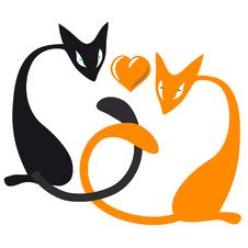 Cats Lovers Stock Photography