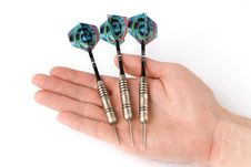 Free Arrows Darts In Hand Stock Photography - 9736872