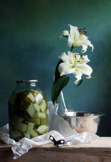 Lily And Preserves Food Royalty Free Stock Photo