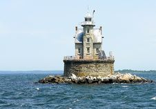 Free Lighthouse House In The Bay Stock Photography - 9737082