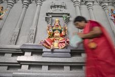 Lakshmi Worshipper Royalty Free Stock Photo