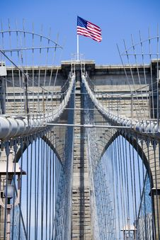 Free The Famous Brooklyn Bridge Royalty Free Stock Images - 9737469