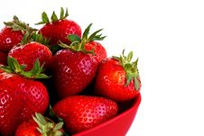 Free Bowl Of Strawberries Closeup Royalty Free Stock Photography - 9737647