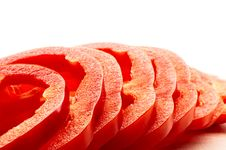Free Pieces Of Sliced Pepper Stock Photography - 9737852