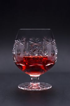 Free Glass Of Strong Alcohol On Black Background Royalty Free Stock Image - 9738516