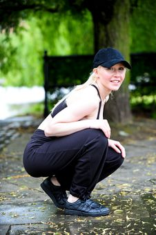 Free Active Blond Woman In Urban Environment Stock Image - 9739821