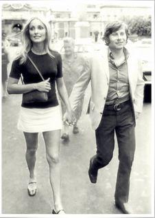 Free Sharon Tate & Roman Polanski &x28;Cannes,1968&x29; Stock Image - 97312681