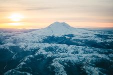 Free Black Mountain Covered In Snow During Sunset Royalty Free Stock Photos - 97312878