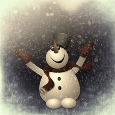 Free Snow Man Snow Stock Photos - 97314153