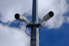 Street Surveillance Cameras Royalty Free Stock Photography