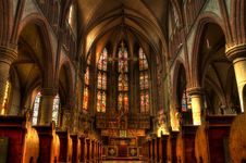 Free Cathedral, Medieval Architecture, Stained Glass, Place Of Worship Stock Photography - 97340492