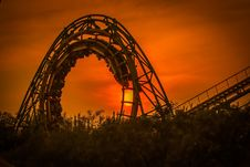 Free Amusement Ride, Roller Coaster, Amusement Park, Tourist Attraction Stock Images - 97352064
