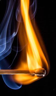 Free Match, Flame, Heat, Smoke Stock Photography - 97360002