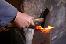 Free Blacksmith, Metalsmith, Metalworking, Heat Stock Photo - 97360370