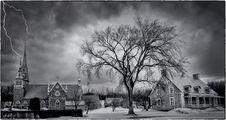 Free Sky, Tree, Cloud, Black And White Stock Photos - 97360633