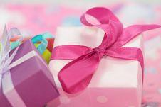 Free Pink, Gift, Sweetness, Ribbon Stock Image - 97360861
