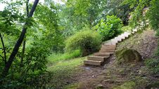 Free Wooden Staircase At Lake Lure, NC Stock Photography - 97381662