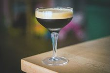 Free Espresso Martini, Cocktail With Coffee And Vodka Stock Photo - 97382000