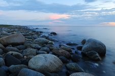 Free Pebbles On Beach Against Sky During Sunset Royalty Free Stock Photos - 97382038