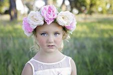 Free Flower Headband Girl Stock Photos - 97382183