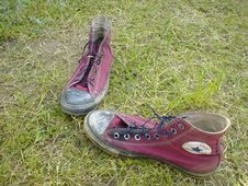 Free Old Red Shoe Stock Photography - 97382462