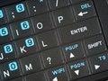Free Smart Phone QWERTY Keypad Enter Angle Close Up.jpg Stock Image - 9744621