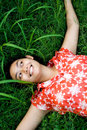 Free Young Woman On Green Grass Royalty Free Stock Images - 9749699