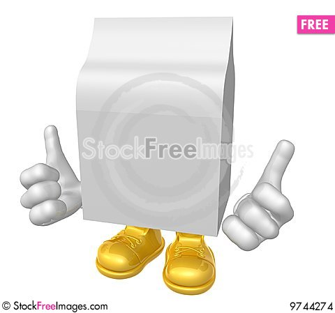 Free Blank Product Packaging Mascot Stock Images - 9744274