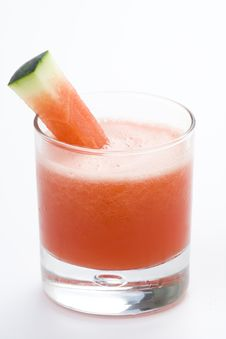 Refreshing Cold Watermelon Juice Stock Image