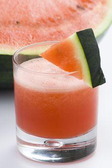 Refreshing Cold Watermelon Juice Stock Photo