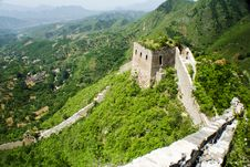 Free Steep Cliff Beside The Great Wall Royalty Free Stock Images - 9740509