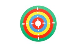 Free Colorful Toy Rubber Target Royalty Free Stock Image - 9741826