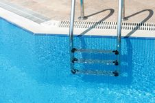 Free Handrail In Swimming Pool Stock Image - 9742511