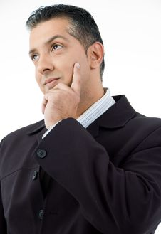Free Portrait Of Thinking Businessman Royalty Free Stock Photo - 9742685