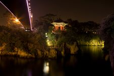 Pagoda And A Bridge Royalty Free Stock Photos