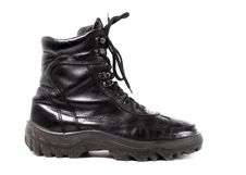 Black Shiny Boot Royalty Free Stock Photos