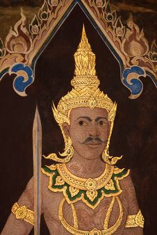 Free Painting In Grand Palace Stock Photography - 9743952