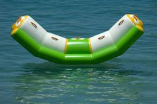 Floating Sunbed Royalty Free Stock Photos