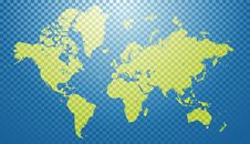 Free Abstract World Map Royalty Free Stock Image - 9744026