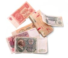 Free Old Soviet Banknotes Stock Photography - 9744042