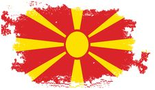 Grunge Macedonia Flag Royalty Free Stock Photography