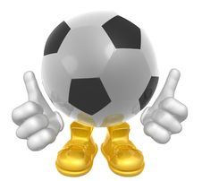 Soccer Ball Mascot Illustration Royalty Free Stock Photography