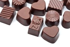 Free Chocolate Candies Isolated Stock Image - 9744521