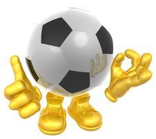 Free Soccer Ball Mascot Illustration Royalty Free Stock Photos - 9744568