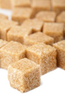 Free Cane Sugar Cubes Isolated Royalty Free Stock Photo - 9744605