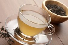 Free Cup Of Green Tea Royalty Free Stock Image - 9744806