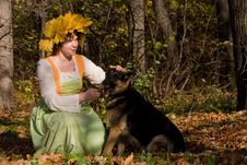 Free Woman And Dog Royalty Free Stock Photo - 9744905