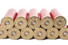Free Shotgun Cartridges Isolated Royalty Free Stock Image - 9745066